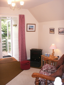 Living room at Old Dairy Cottage Loch Melfort Argyll